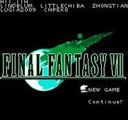 FFVII NES Title Screen