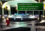 President Shinra in the president room