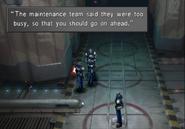 Missile Base delivering inspectors message from FFVIII Remastered