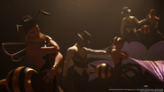Performers at the Honeybee Inn from FFVII Remake