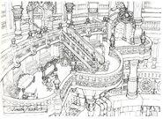 Lindblum Castle Hallway FF9 Art 1