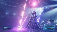 Ramuh uses a lightning bolt attack from FFVII Remake Intergrade