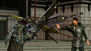 Regis blocks Ardyn in FFXV Episode Ardyn