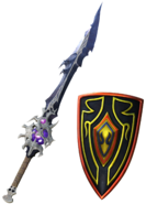 DFFNT Warrior of Light's Barbarian's Sword & Aegis Shield