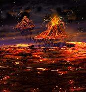 FFBE Roaring Volcano BG