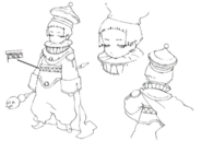 Tyrant concept sketch for Final Fantasy Unlimited