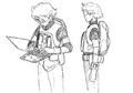 Cid sketches 2 for Final Fantasy Unlimited