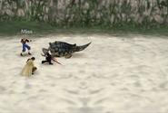 Adamantoise Bite Attack from FFVIII Remastered
