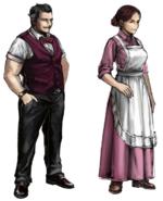 Johnnys parents artwork for FFVII Remake