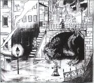 Midgar Town Square FFVII Sketch