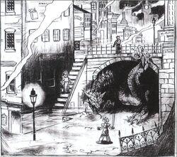 Midgar Town Square FFVII Sketch.jpg