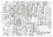 Lindblum Castle Base Level FF9 Art 1