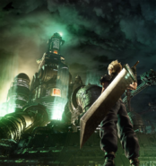 Cloud Strife anniversary render FFVII R