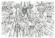 Lindblum Castle Base Level FF9 Art 2