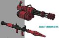 Scarlets minigun artwork for FFVII Remake