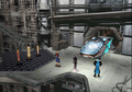 Party enters Esthar City from FFVIII Remastered