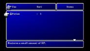 FFII PSP Item Menu