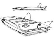 Pist's car concept sketch for Final Fantasy Unlimited