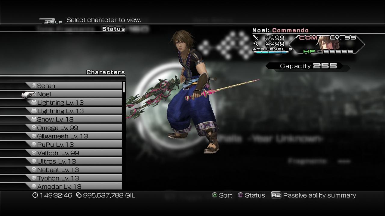 Final Fantasy XIII-2 stats