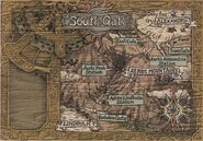 Aerbs Mountains South Gate Map FFIX Art