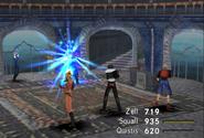 Raijin uses Hi-Potion from FFVIII Remastered