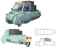 SA-37 type Motor Tricycle artwork for FFVII Remake