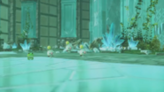 WoFF Crystal Tower Wind Earth Battle Background