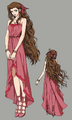 Aerith dress 2 from FFVII Remake concept art