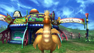 Chocobo outside travel agency