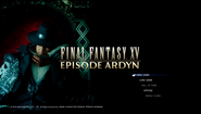 FFXV Episode Ardyn title screen