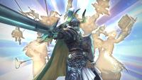 Elidibus as the former Warrior of Light.