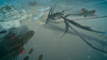 Leviathan amid imperial airships in FFXV