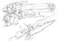 Magun transformed sketch for Final Fantasy Unlimited