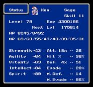 FFIII NES Status Menu