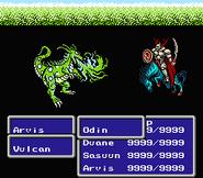 FFIII NES Sword Cut