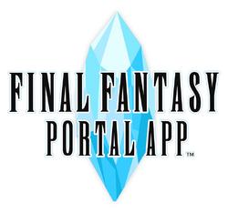 O logo de Final Fantasy Portal App.