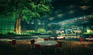 Shinra Building Recreational Facility artwork for Final Fantasy VII Remake