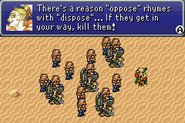 FFVI GBA Oppose rhymes with dispose