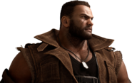 Barret Wallace from FFVII Remake bust render