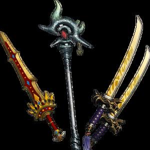 DFF2015 Royal Sword & Kotetsu & Rune Staff Onion Knight.png