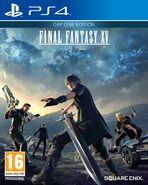 Final Fantasy XV's completed North American box art.