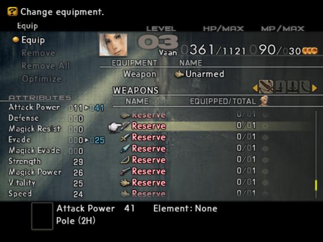 Final Fantasy XII enemy equipment