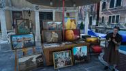 Altissia street art stand in FFXV