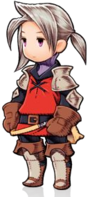 Luneth from Final Fantasy III wearing the recurring Warrior red garbs.