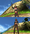 Yuna Warrior Victory Pose