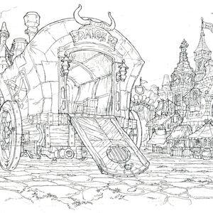 Lindblum Festival of the Hunt Scene FF9 Art 3.jpg