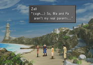 Zell discovers he is adopted from FFVIII Remastered