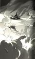 FFIV Novel Art 11 - Dangerous Landing
