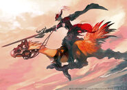 FFXIV Red Mage Chocobo Illustration