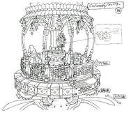 Lindblum Castle Lift FF9 Art 1